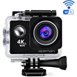APEMAN Sports Action Camera 4K 20MP Wi-Fi Action Cam Waterproof 30M 2.0 Inch LCD Screen 170 Wide-Angle Dual 1050mAh Batteries with Portable Package and Kit of Accessories