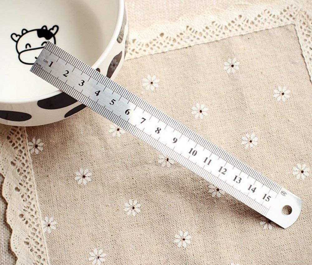 Westeng Stainless Steel Rulers Set Duplex Scale Metal Rule Including 12 Inch 8 Inch and 6 Inch Ruler