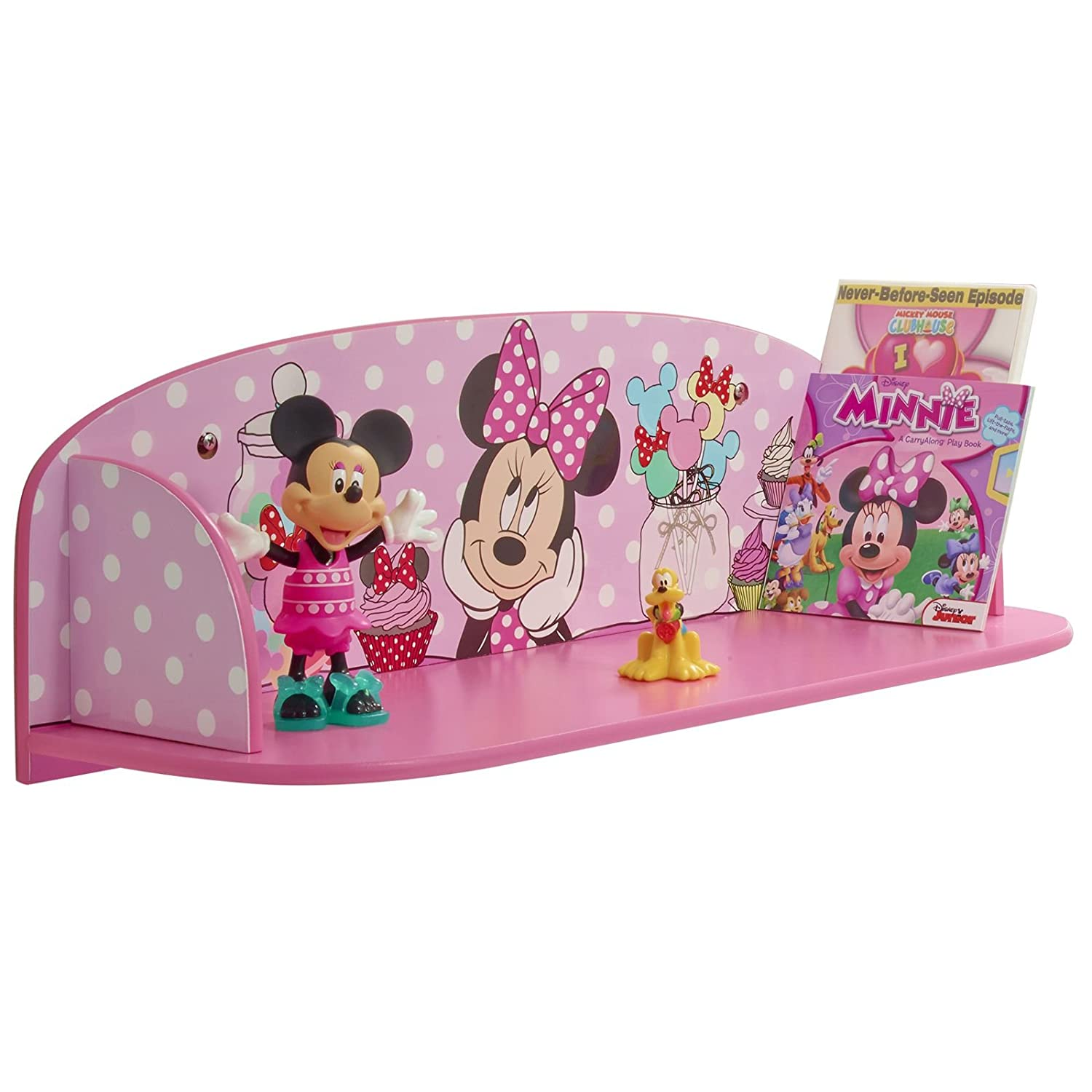 Disney Minnie Mouse Kids Bedroom Book Shelf by HelloHome Amazon