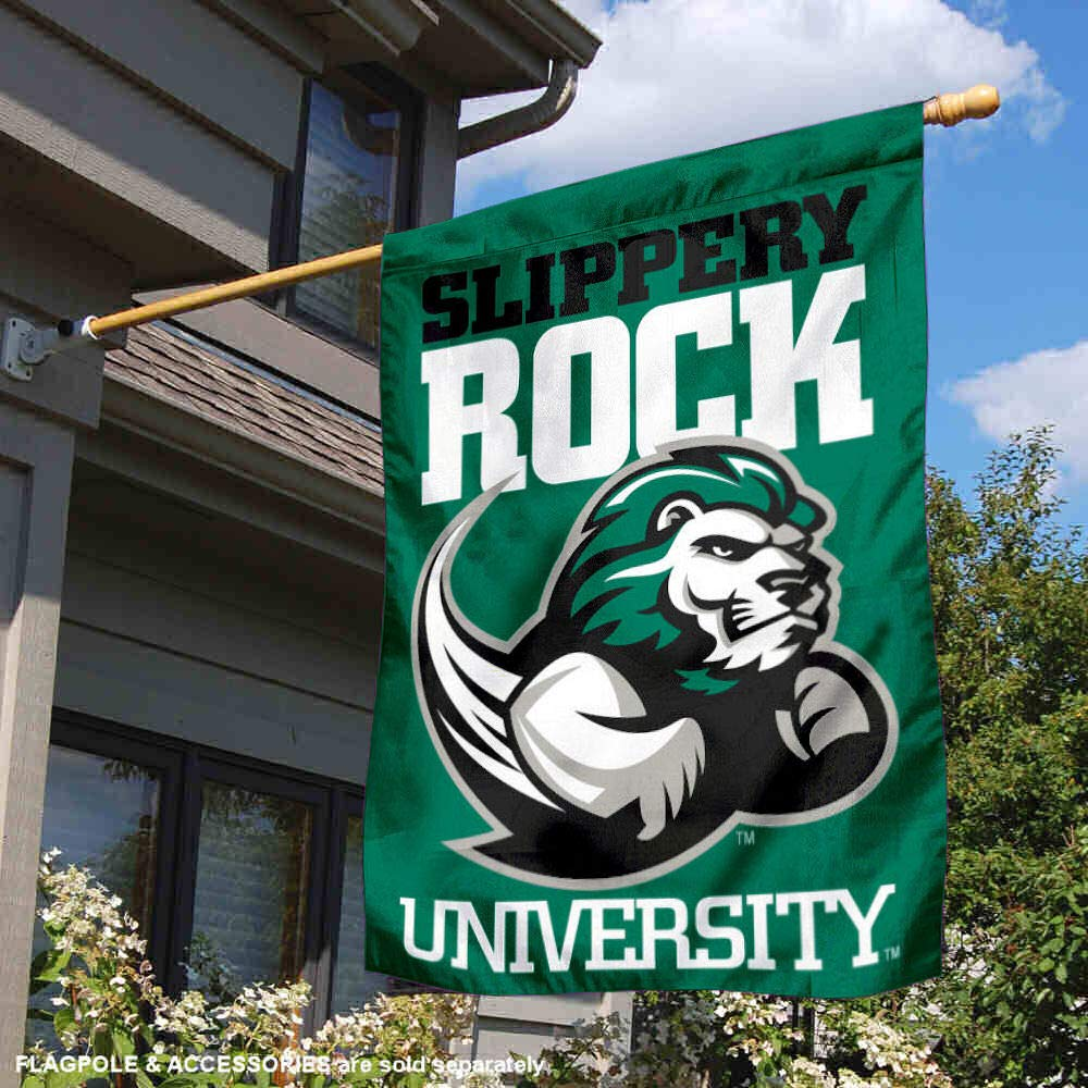 College Flags and Banners Co SRU The Rock Double Sided House Flag