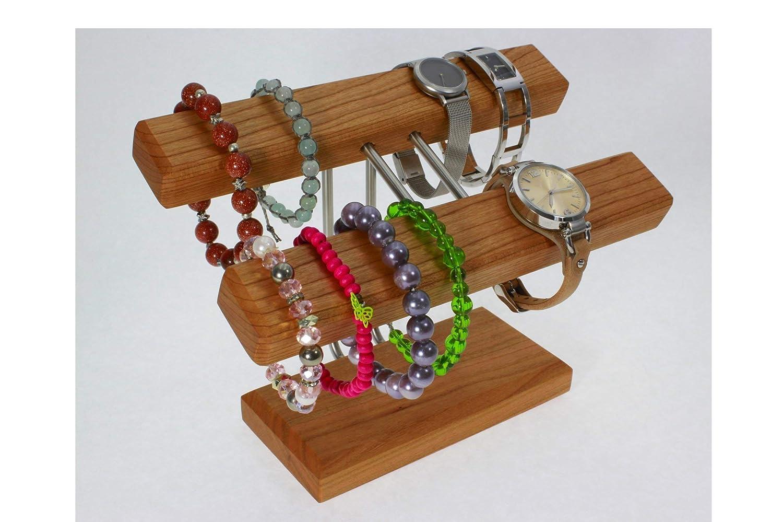Uhrenhalter Armbandhalter Schmuckhalter Schmuckständer Kirschbaumholz Handmade in Germany.