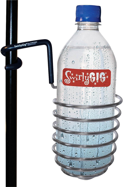 SwirlyGig SG1020 Drink Holder for 1/2 Tubing, Silver