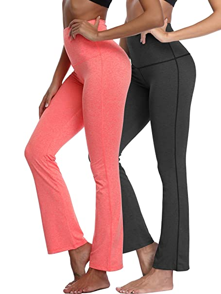 100% high quality unbeatable price discount price Cadmus Womens High Waisted Boot Cut Pants Workout Leggings with Pocket