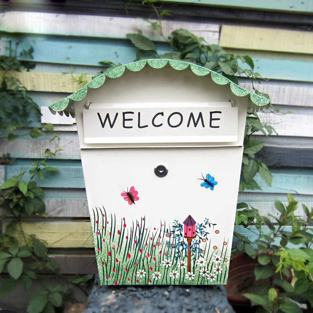 CKH 装飾的な庭を塗装レターボックスクリエイティブロック小さなメールボックス壁掛け防水受信ボックスメールボックス   B07HYN9BV3