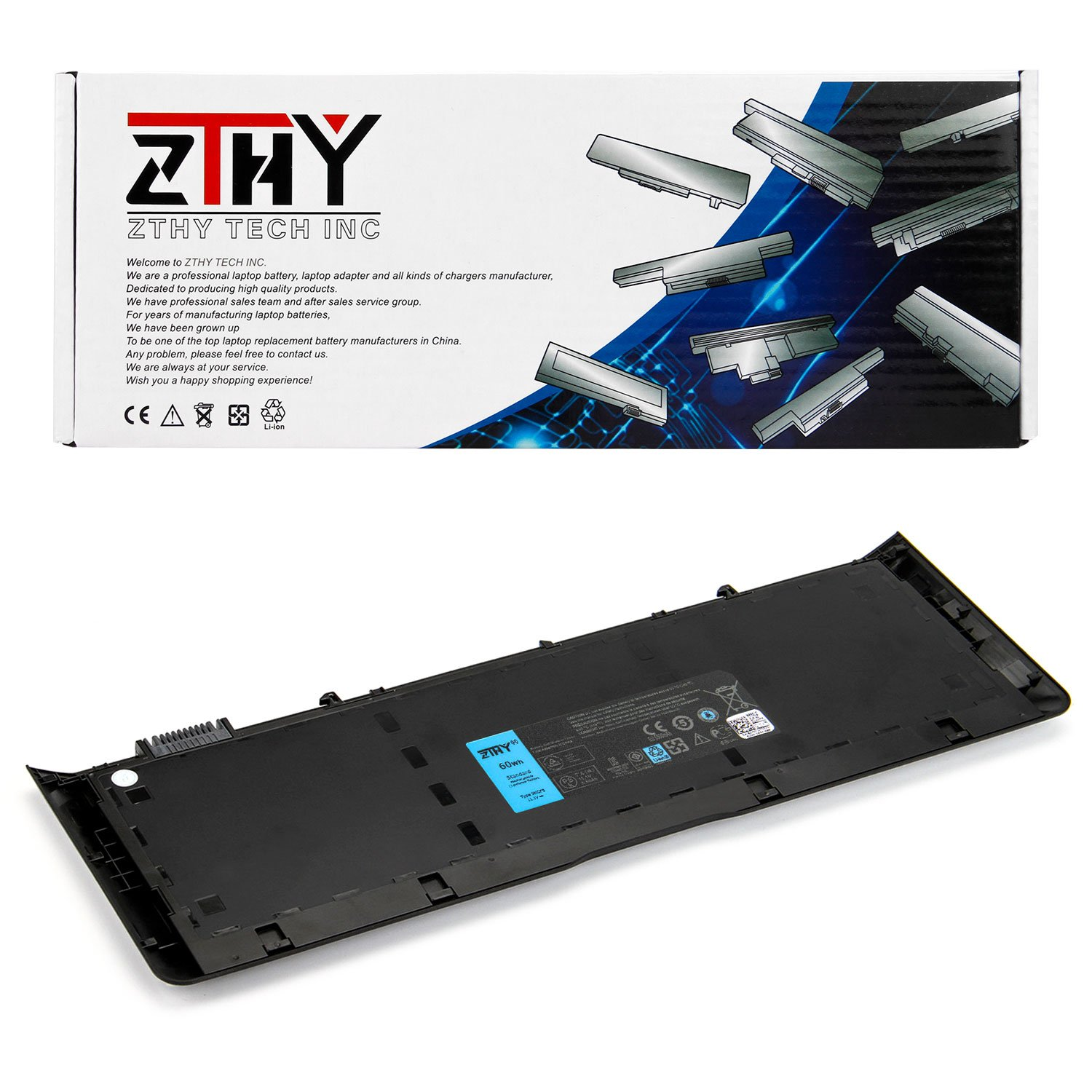 ZTHY Compatible 9KGF8 Laptop Battery Replacement for Dell Latitude 6430U L6430U Ultrabook Series 7XHVM TRM4D 312-1425 312-1424 6FNTV 7HRJW 7HTJW XX1D1 11.1V 60Wh 6-Cell