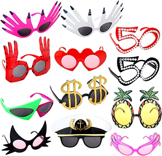 Novelty Party Sunglasses Funny Glasses Costume Photo Props Eyewear Kids Adults