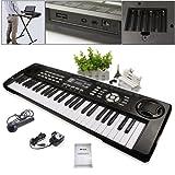 JJOnlineStore - 54 Keys Multi Functional Musical Instrument Piano Synthesizer Keyboard Microphone Kids Adults Beginners Christmas Gift Present