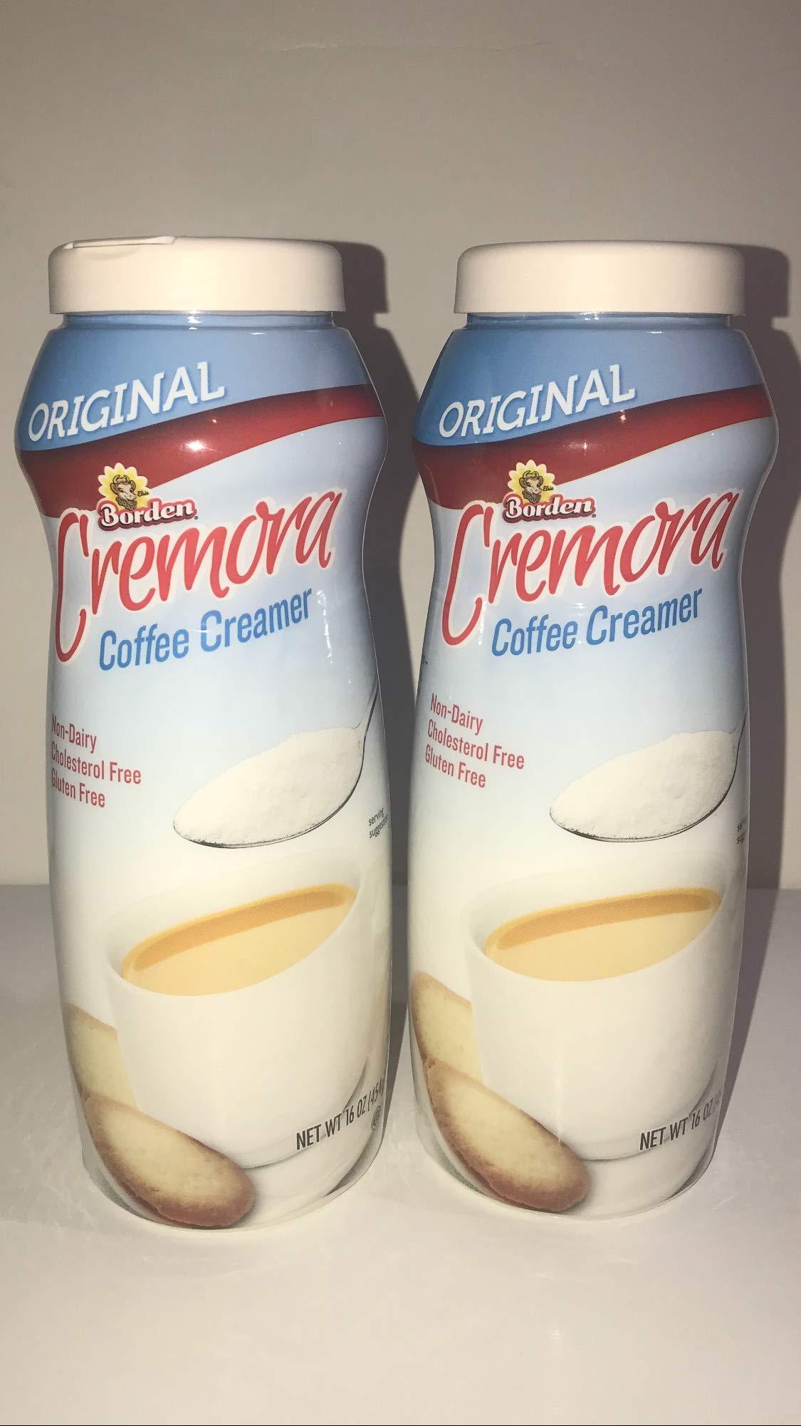 Borden Cremora Non- Dairy Powdered Coffee Creamer Original,16 oz bottle (Pack of 2)
