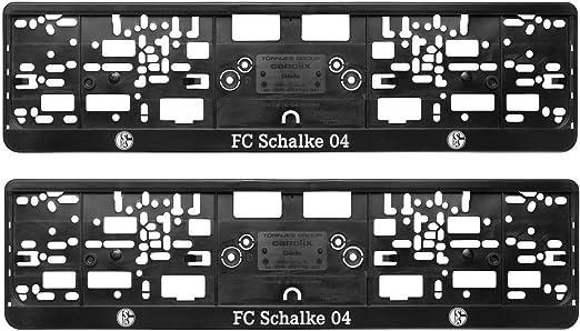 Fc Schalke 04 Nummernschildhalter Logo 2er Set Kennzeichenverstärker S04 Plus Lesezeichen I Love Gelsenkirchen Sport Freizeit