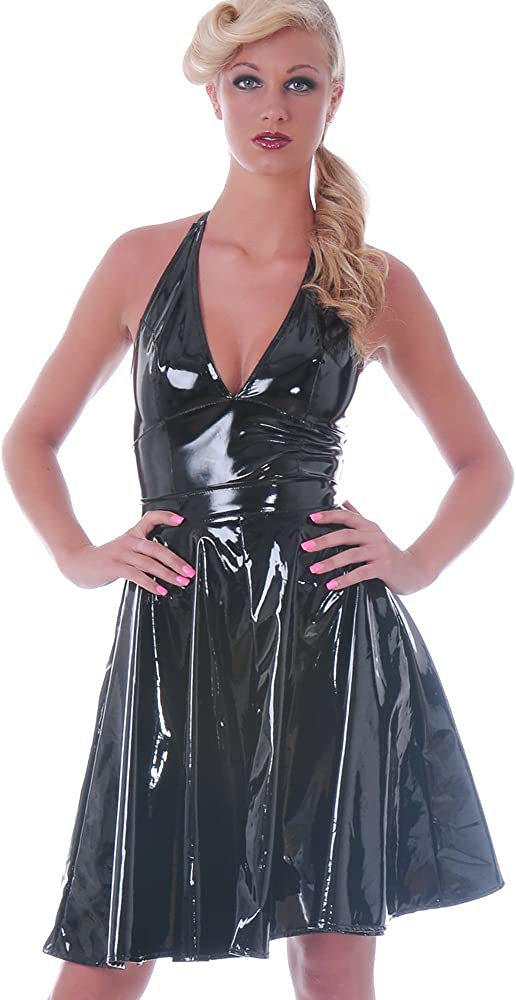 Honour PVC Jive Circle falda de vinilo, color negro, talla 36 (XS ...