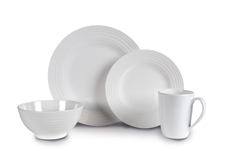 Kampa Blanco Contemporary 16 piece Melamine Dinner Picnicware Set