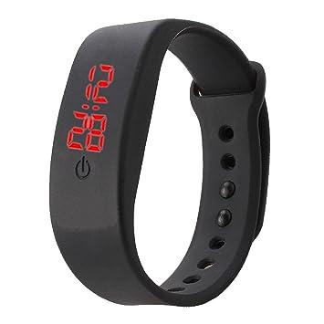 Reloj unisex VIESN rhöna relojes de pulsera de silicona reloj deportivo digital LED pantalla digital fácil de diseño negro: Amazon.es: Deportes y aire libre