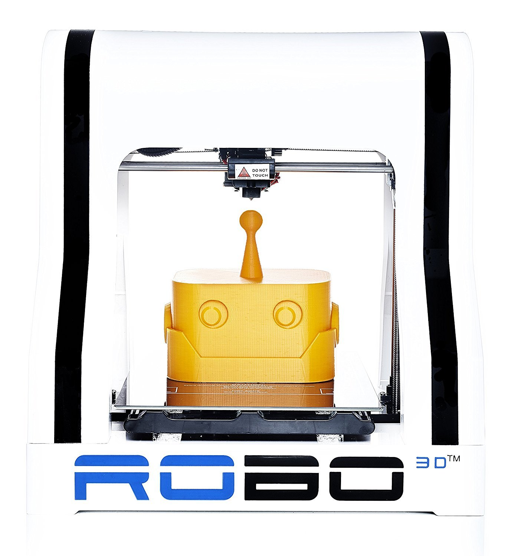 "Robo R1+ ABS/PLA Assembled 3D Printer, Big Build Volume 8""x9""x10""for Educators and Innovators"