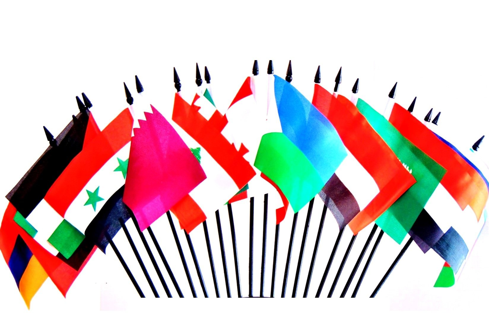 SOUTHWEST ASIA WORLD FLAG SET--20 Polyester 4''x6'' Flags, One Flag for Each Country in Southwest Asia, 4x6 Miniature Desk & Table Flags, Small Mini Stick Flags