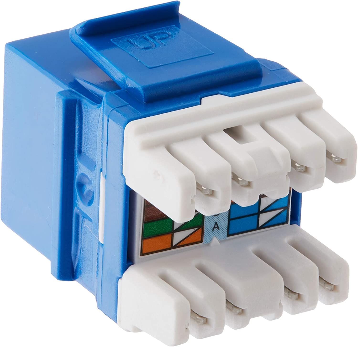 Legrand On-Q WP3475LA10 Contractor Quick Connect Cat5E RJ45 Keystone Connector Pack of 10 Light Almond