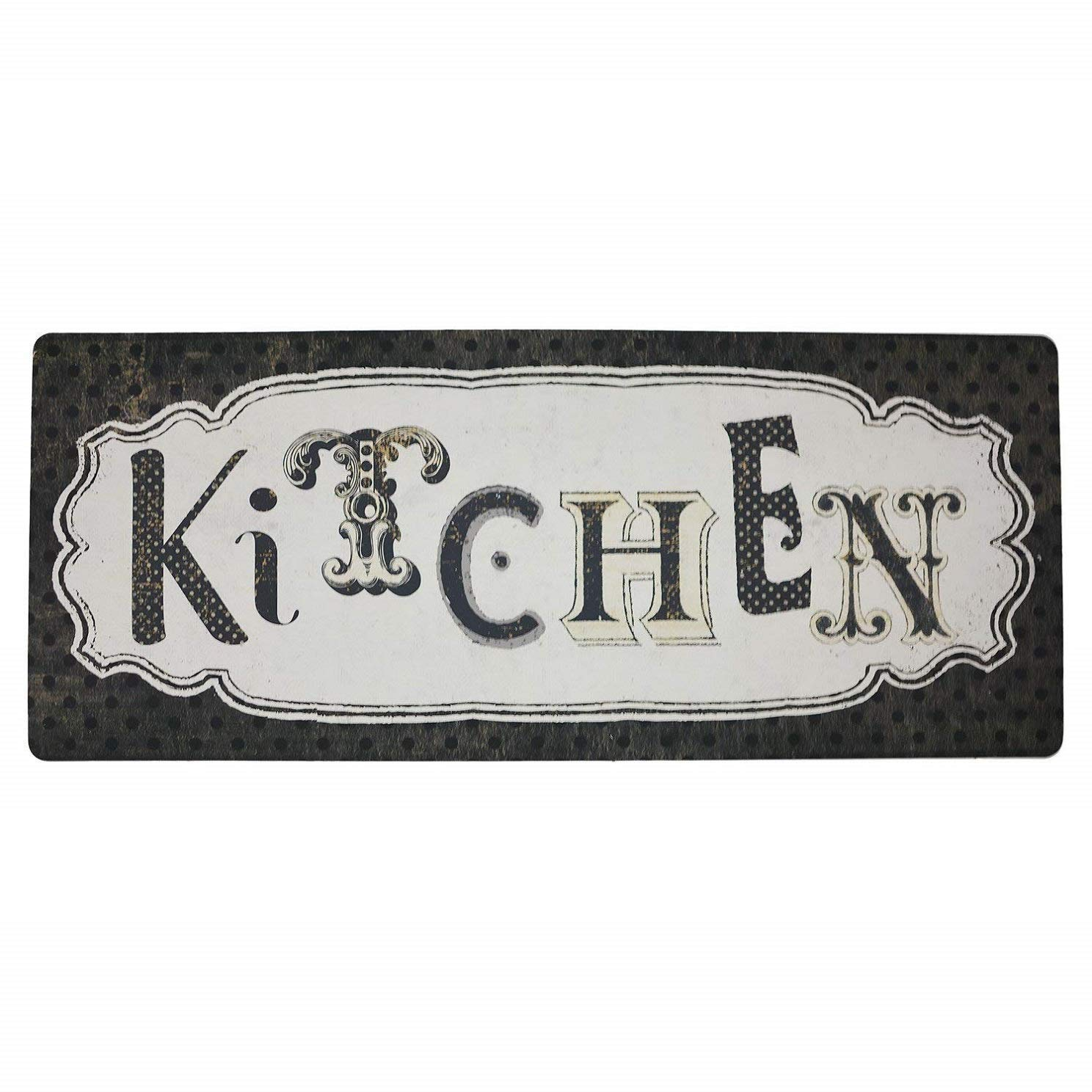 Brandream Vintage Kitchen Floor Mat Non Skid Waterproof Laundry Room Floor Mat Kitchen Rugs 20x48