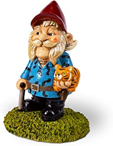 Kwirkworks Funny Garden Gnome - Joe Exotic aka The Tiger King Lawn Statue