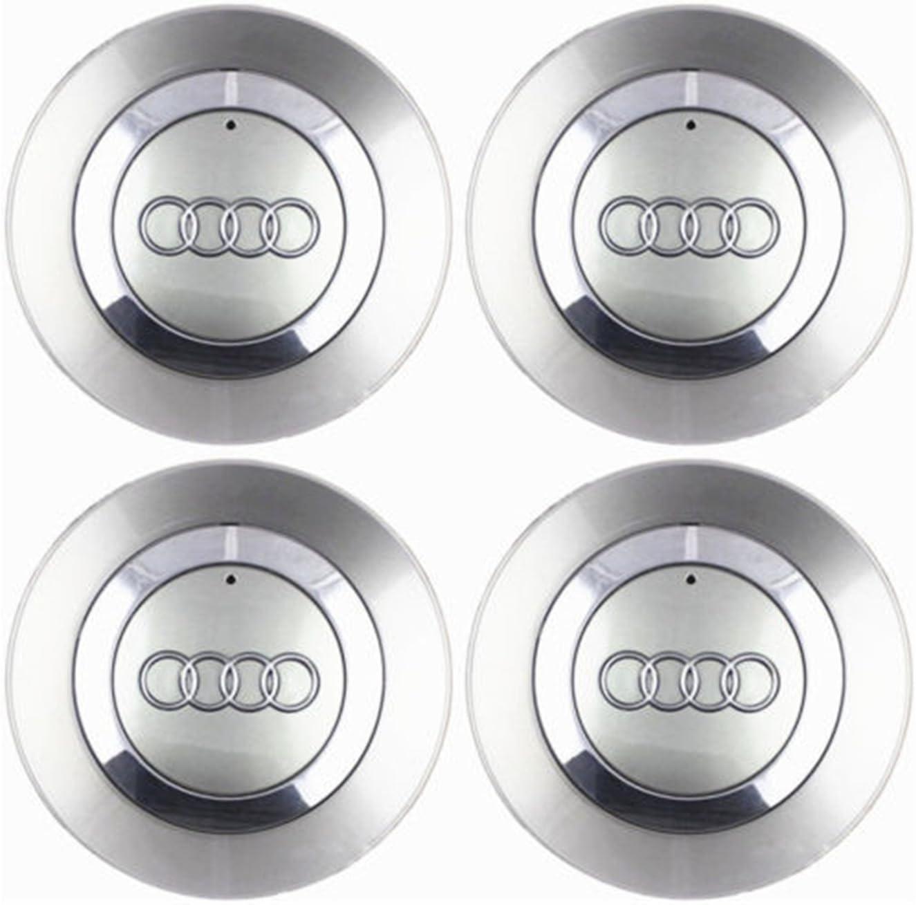 2001-2004 Juego de 4 tapas centrales con nuevo logotipo para tapacubos de rueda con llanta de aleaci/ón de 16 pulgadas 8E0601165
