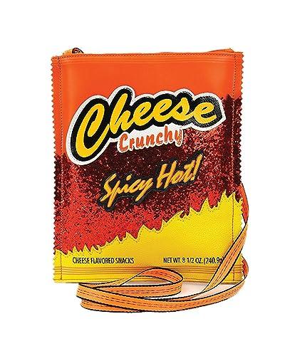 Amazon.com: Sidecca - Bolso cruzado de queso con purpurina ...
