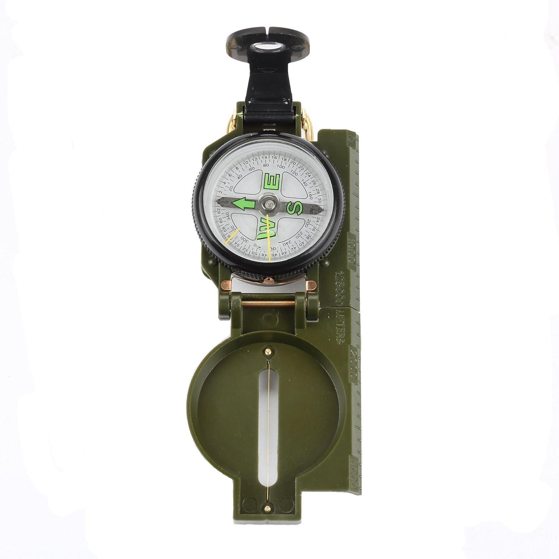 Highmoor 1パックのポケットサイズMilitary Grade Marching Armyアウトドアキャンプハイキング登山サバイバルBiking LensaticコンパスメタルSighting B077MHM55Y