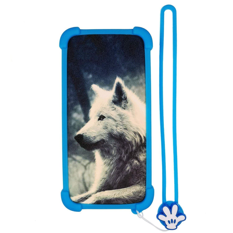 Funda para Brigmton Bphone 551qc 551 Qc Funda Silicone Border + Placa Dura de la PC Stand Carcasa Case Cover Lang