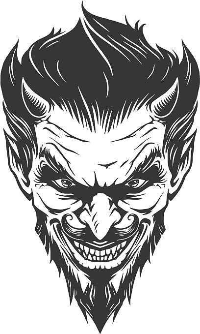 Drawing Devil Face Art