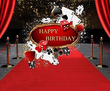 Amazon.com: Paño para fiesta de cumpleaños, diseño de casino ...