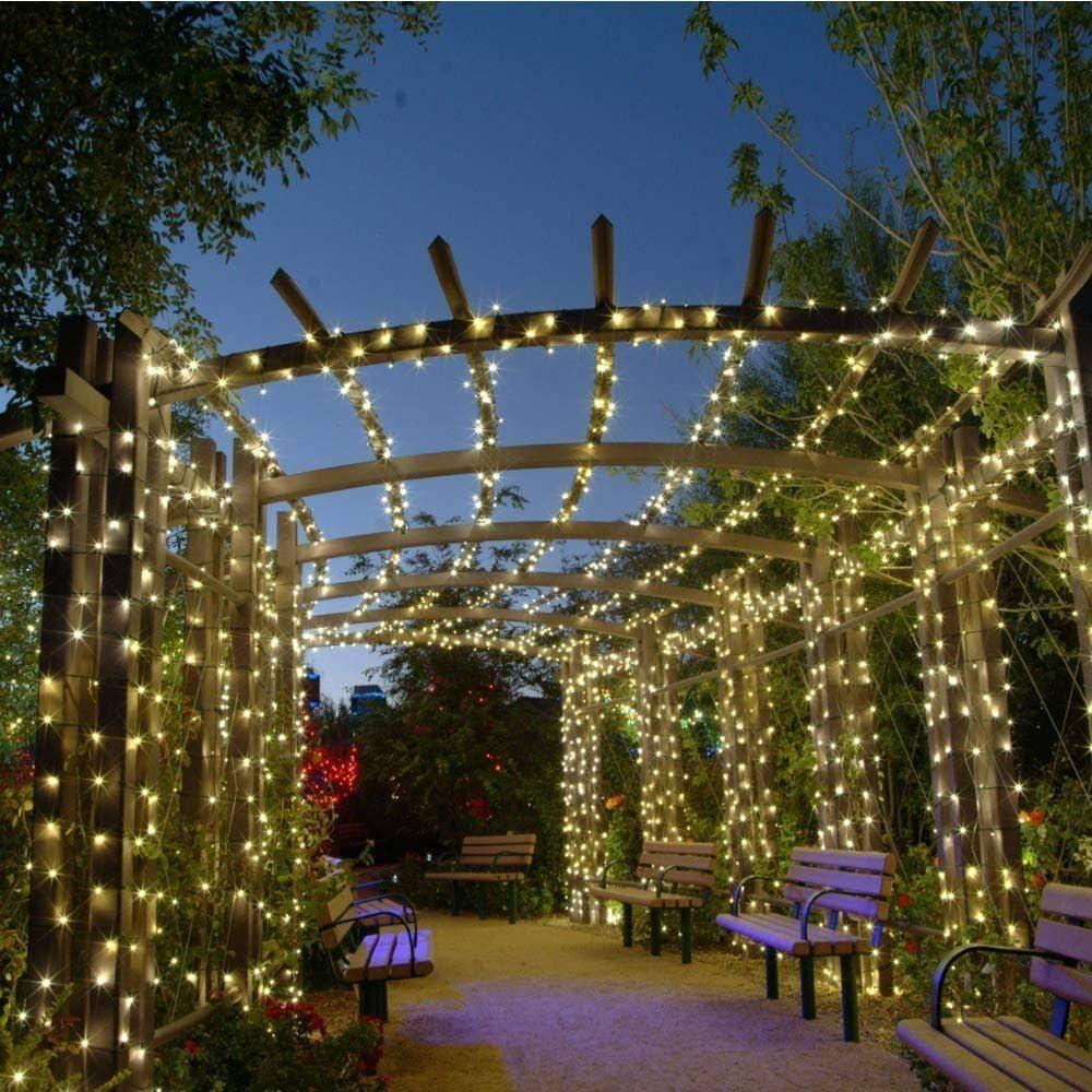 OxyLED luces de cadena de hadas solares, luces impermeables interiores/exteriores de 200 LED,luces solares decorativas accionadas para jardín,patio,patio,hogar,bodas,fiestas,Navidad,blanco cálido: Amazon.es: Iluminación