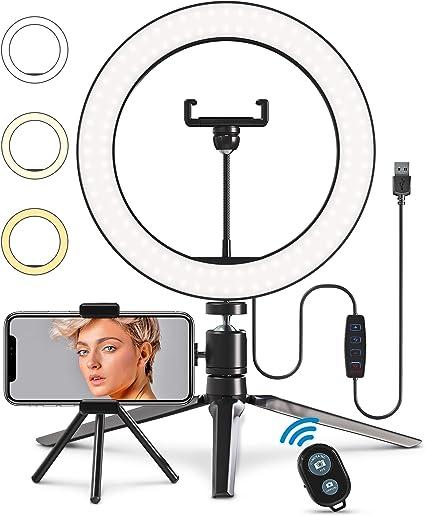 Ringlicht Mit Stativ Und Handyhalterung 25 4 Cm Kamera