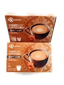 Barissimo Caramel Cappuccino Coffee Drink Mix K-Cup Compatible 2 Boxes 24 Pods