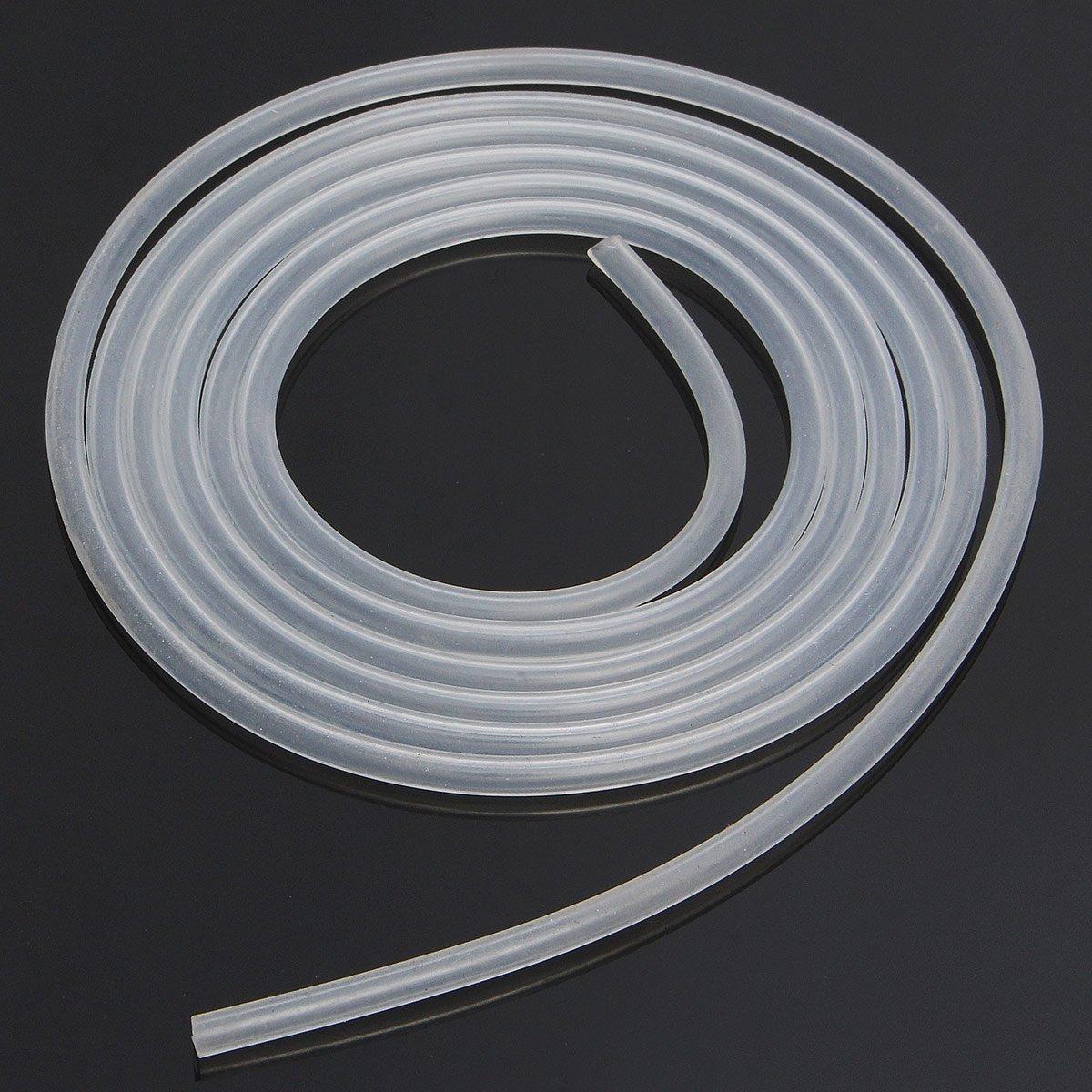 takestop® Rohr transparent weiß Acryl 8mm x 10mt Rohr Kabel flexibel für aereatori Luft Wasser Aquarium Teich Pumpe Filter Flüssigkeiten MOON 10010138