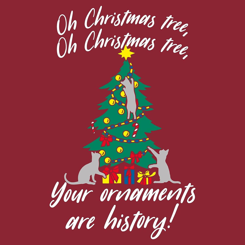 Amazon.com: Oh Christmas Tree Cats Funny Festive Holiday Long Sleeve ...