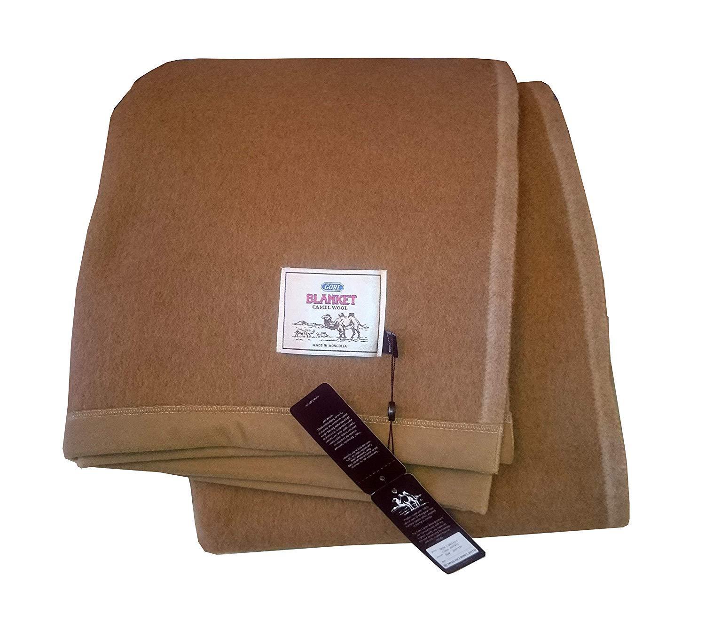 100%カメルウールのブランケット モンゴル産カメルの上質なブランケット - Premium Camel wool blanket (200cm*150cm) B07MTJ81T2  200cm*150cm