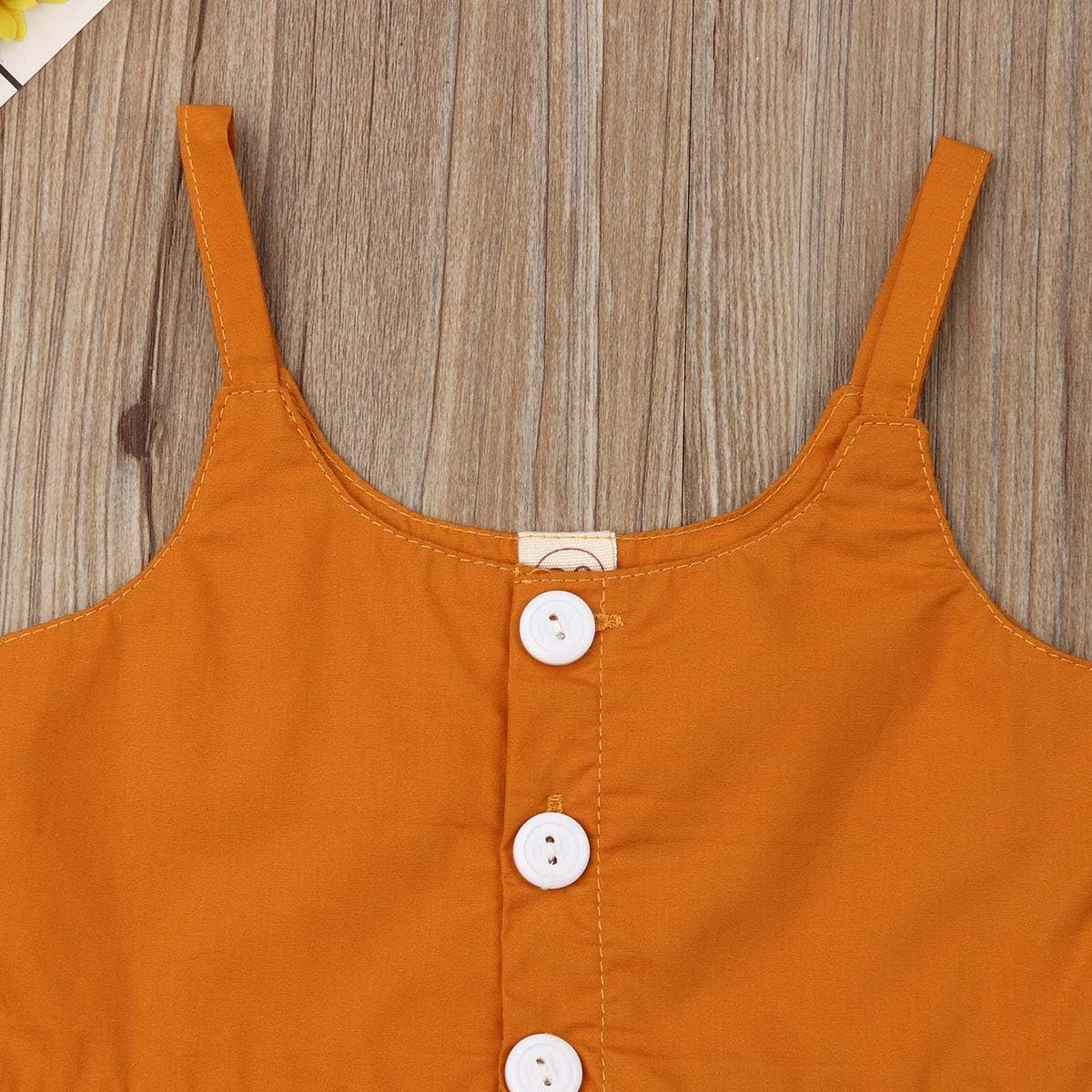 2 Unidades de Ropa de beb/é ni/ña sin Mangas Pantalones Cortos crisantemo//Girasol//pi/ña Camiseta Tops Ropa de beb/é para Playa//mar//Vacaciones. Conjunto Amarillo