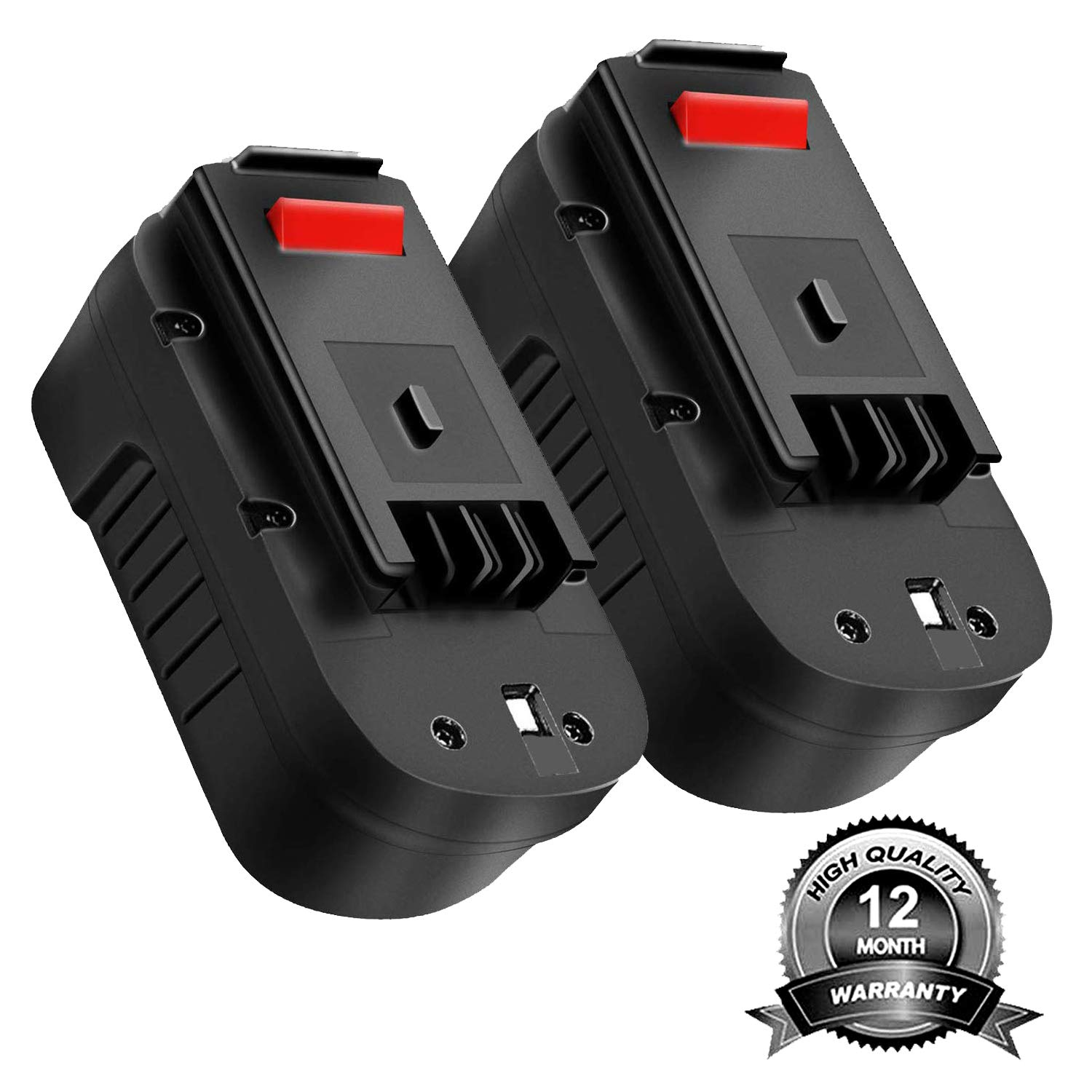 2Pack HPB18 3.6Ah 18V Replacement for Black and Decker Battery, Power Tool Battery for B&D HPB18-OPE 244760-00 A1718 FSB18 FEB180S A18 FS18FL Firestorm Cordless Power Tools