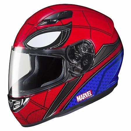Amazon.com: HJC 138-912 Marvel Unisex-Adult Full Face CS-R3 Spiderman Homecoming Helmet (Mic-1 Red/Blue, Small): Automotive