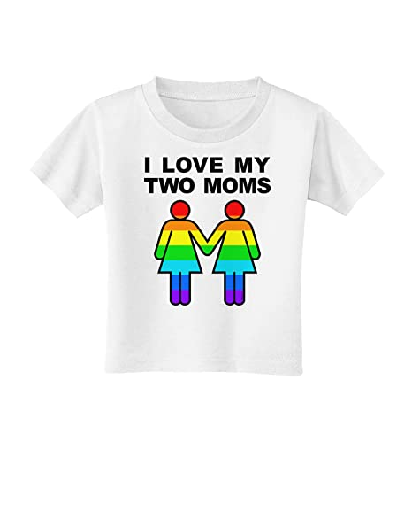 Amazon.com: I Love My Dos mamás LGBT bebé T-Shirt: Clothing