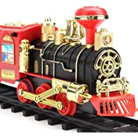 LIMBAKSHIT Toy Train for Kids Play Set with Light, Sound and Smoke Toys for Kids Vintage Classical Toy Train Track Set