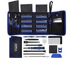 ORIA Conjunto de chave de fenda de precisão , 142 em 1 com kit de chave de fenda magnética de 120 Bits Kit de ferramentas de