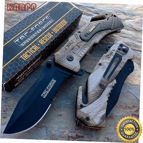 Amazon.com: Cuchillo de bolsillo con revestimiento de Sniper ...