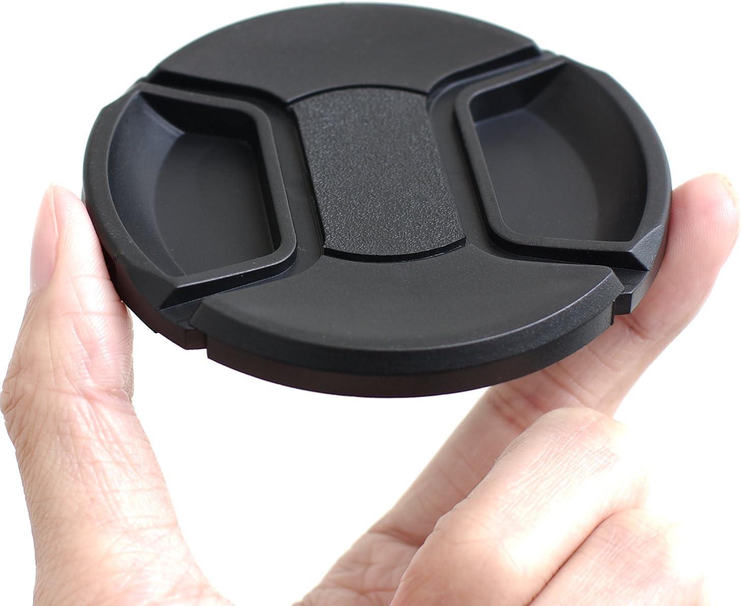 Front Lens Filter Snap On Pinch Cap Protector Cover for DSLR SLR Camera Lens 77+82 77MM x 2 + 82MM x 2 IMZ Lens Cap Bundle