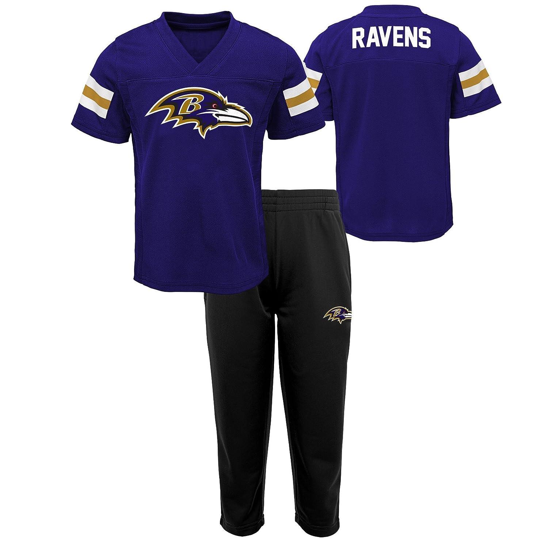 NFL ボーイズ 幼児用 トレーニングキャンプ半袖トップ&パンツセット 4T Ravens Purple B07CTVY2QR