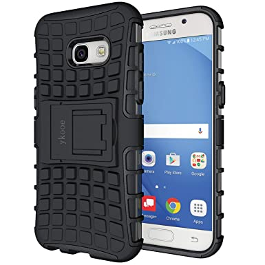 new product e844f 37c1b ykooe kickstand phone Case for Samsung Galaxy A3 2017 Cover Silicone Heavy  Duty Armor