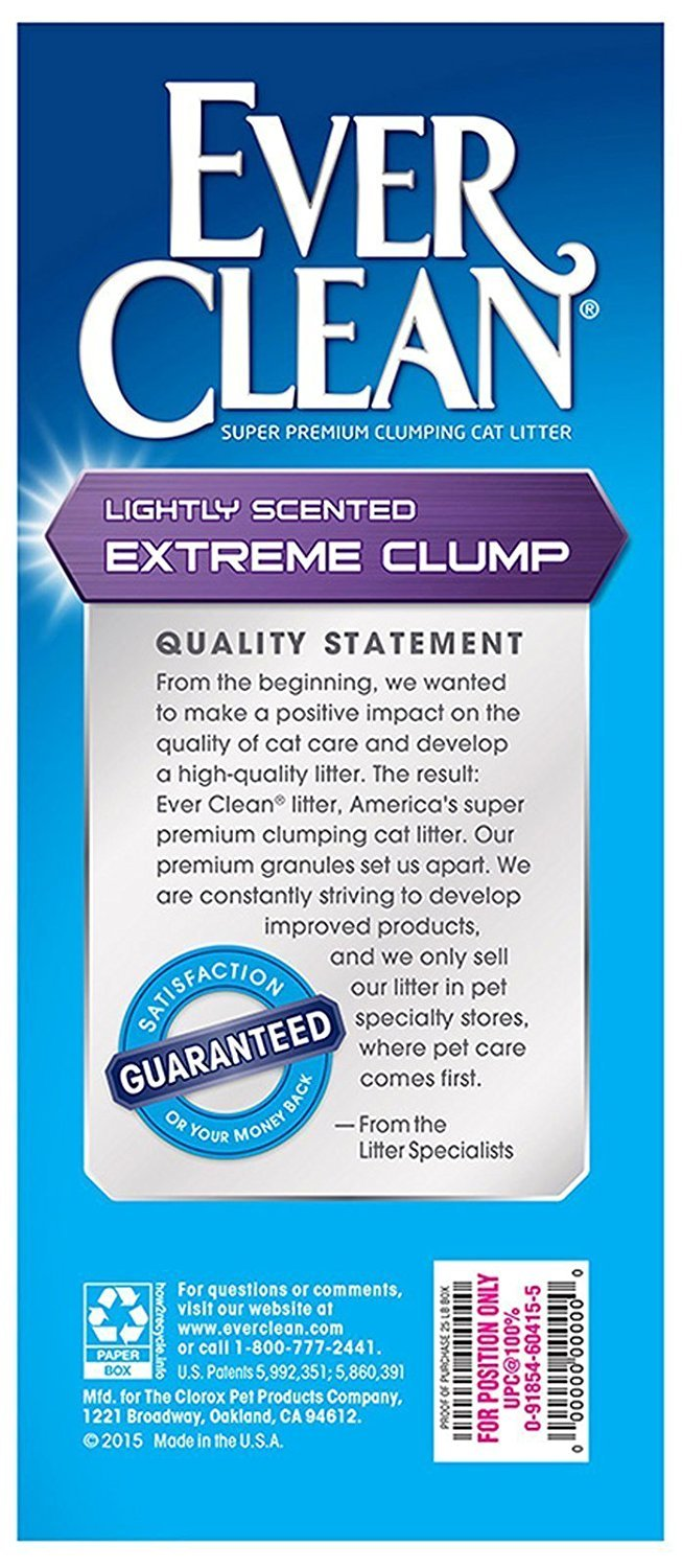 Ever Clean Extra Strength Cat Litter, Lightly Scented, Extreme Clump, 25 Pound Box, 2-Pack
