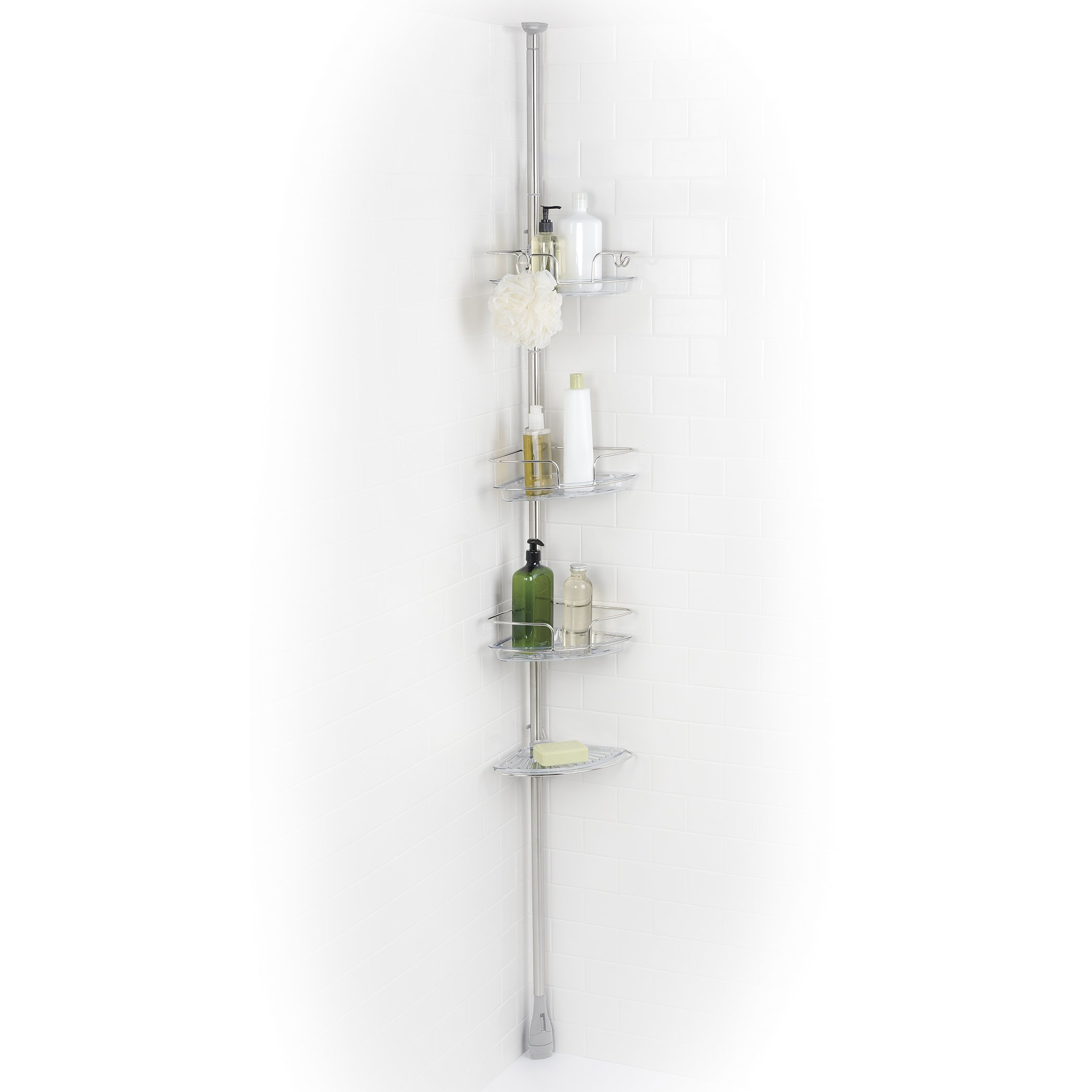 OXO Good Grips Lift and Lock Stainless Steel Tension Pole Shower Caddy by OXO (Image #5)