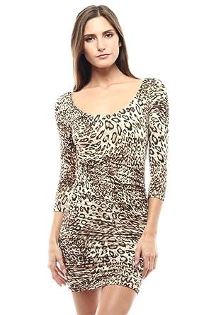 best service b2f34 1fc6f 2LUV Damen Kleid Grau/Weiß S Gr. L, braun: Amazon.de: Bekleidung