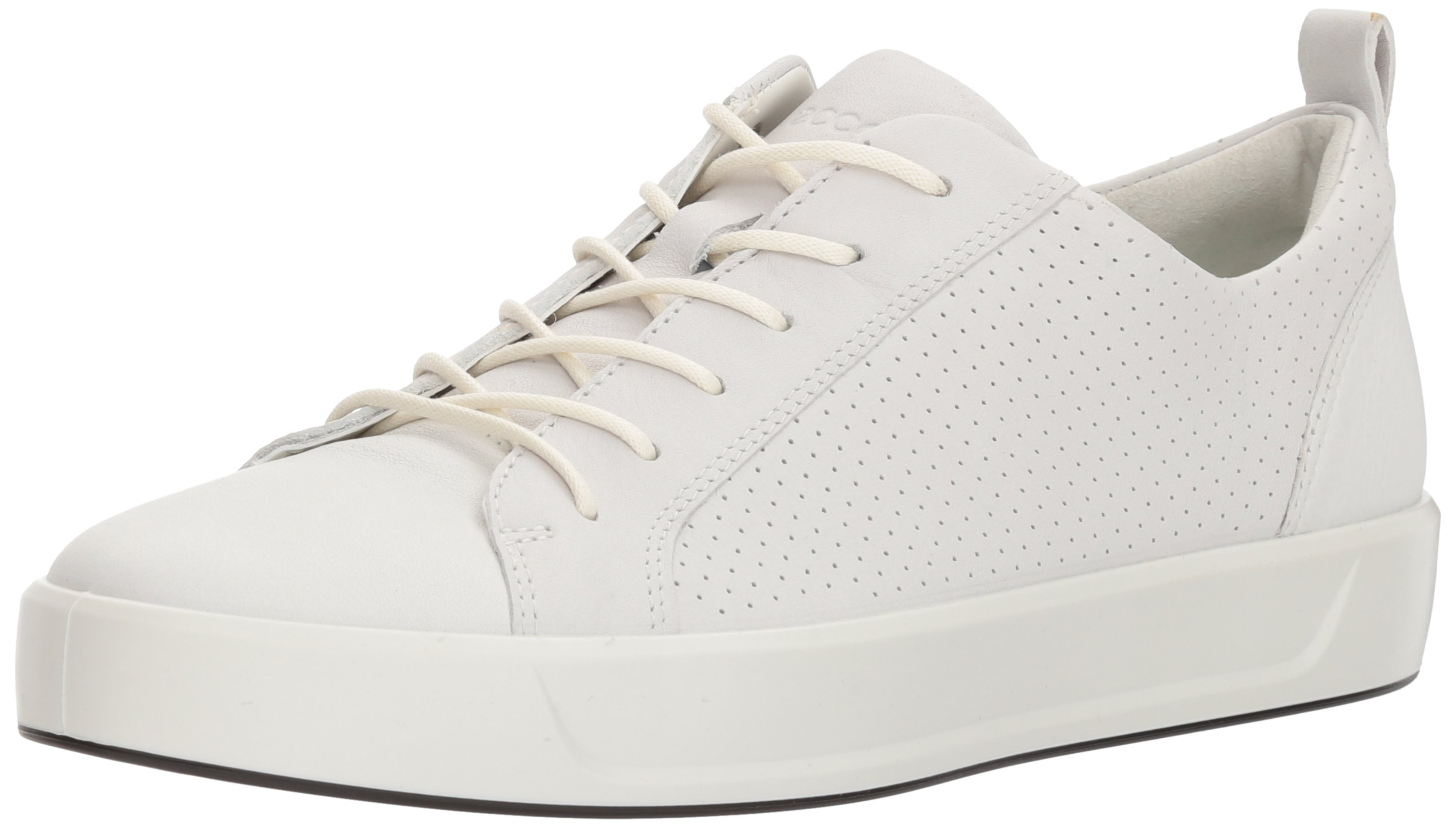 ECCO Women's Women's Soft 8 Perforated Tie Sneaker, White, 42 M EU (11-11.5 US)