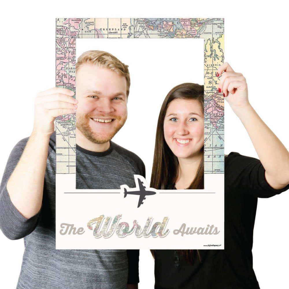 Amazon.com: World Awaits - Travel Themed Party Photo Booth Picture ...
