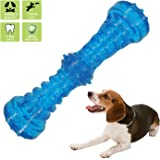 Dilight Dog Squeaky Rubber Stick Spiky Ball Chew Toy for Aggressive Chewers, Pet Training/Playing/Chewing