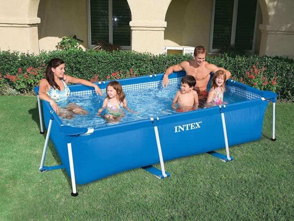 Intex - Piscina para Suelo (Metal, 2,2 x 1,5 x 0,60 m)